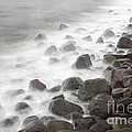 Waves Hitting The Shore by Ted Kinsman
