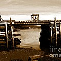 Wharf At Low Tide by Barbara Griffin