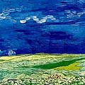 Wheat Field Under Clouded Sky by Vincent Van Gogh