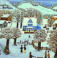 Winter Village by Kenneth LePoidevin