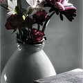 Red Floral Still Life  by Linda Dunn