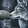 Wolf Trio by Sharon Molinaro