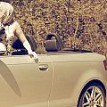 Woman In Convertible by Joana Kruse