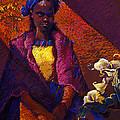 Woman With Calla Lilies by Ellen Dreibelbis