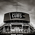 Wrigley Field Bleachers In Black And White by Anthony Doudt