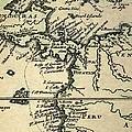 1698 W. Dampier Pirate Naturalist Map by Paul D Stewart