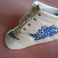 1706 Baby Shoe Blue  by Wilma Manhardt