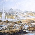 1854 Crystal Palace Dinosaurs By Baxter 2 by Paul D Stewart