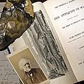 1863 Lyell's Antiquity Of Man Desktop. by Paul D Stewart
