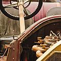 1914 Mercer Model 35 J Raceabout Engine And Steering Wheel by Jill Reger