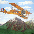1917 Curtis Jenny Jn4 Used By The Army Air Corps by Mickael Bruce