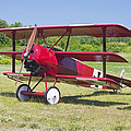 1917 Fokker Dr.1 Triplane Red Barron Canvas Photo Print Poster by Keith Webber Jr