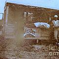 1920s Sepia Farm Stand by Debbie Wassmann
