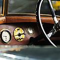 1921 Bentley  Instruments And Steering Wheel by Jill Reger