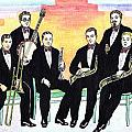 1927 New Yorkers Jazz Band by Mel Thompson