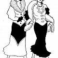 1930s Deco Ladies by Mel Thompson