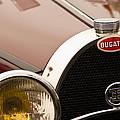 1931 Bugatti Type 55 Roadster Grille Emblem by Jill Reger