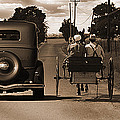 1934 Chevy And Today's Horse And Buggy By Randall Branham by Randall Branham