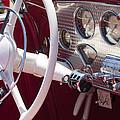 1937 Cord 812 Sc Phaeton Steering Wheel by Jill Reger