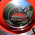 1937 Plymouth Hubcap by Paul Ward