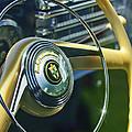 1942 Lincoln Continental Cabriolet Steering Wheel Emblem by Jill Reger