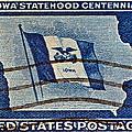 1946 Iowa Statehood Stamp by Bill Owen