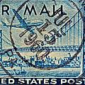 1946 Oakland Bay Bridge Air Mail Stamp by Bill Owen