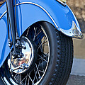 1948 Indian Chief Motorcycle Wheel by Jill Reger