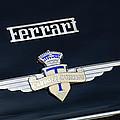 1950 Ferrari Carrozz Touring Milano Emblem by Jill Reger