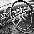 1951 Nash Ambassador Interior Bw by James BO  Insogna