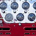 1952 L Model Mack Pumper Fire Truck Controls by Jill Reger