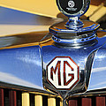 1953 Mg Td Hood Ornament by Jill Reger