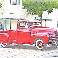 1953 Red Chevy Pickup Truck by Randall Thomas Stone