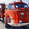 1954 American Lafrance Classic Fire Engine Truck by Kathy Clark