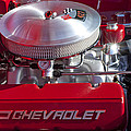 1955 Chevrolet 210 Engine by Jill Reger