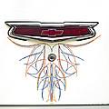 1955 Chevy Emblem by Susan Candelario