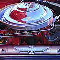 1955 Ford Thunderbird Engine by Jill Reger