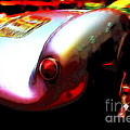1955 Porsche 550 Rs Spyder . Color Sketch Style by Wingsdomain Art and Photography