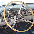 1956 Cadillac Steering Wheel And Dash by Linda Phelps