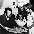 1956 Us Presidency, Nixon Family.  From by Everett