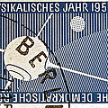 1957 - 1958 East German Sputnik Stamp by Bill Owen