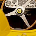 1957 Ferrari 500 Trc Scaglietti Spyder Steering Wheel by Jill Reger