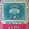 1957 Peru Ten Centavos Stamp by Bill Owen