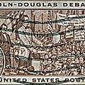 1958 Lincoln-douglas Debates Stamp by Bill Owen
