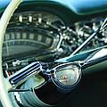 1958 Oldsmobile 98 Steering Wheel by Jill Reger