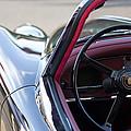 1959 Jaguar S Roadster Steering Wheel 2 by Jill Reger