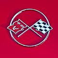 1962 Chevrolet Corvette Hood Emblem 2 by Jill Reger