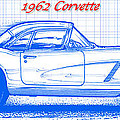 1962 Corvette Blueprint by K Scott Teeters