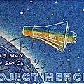 1962 Man In Space Stamp by Bill Owen