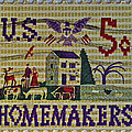 1964 Homemakers Five Cent Stamp by Bill Owen